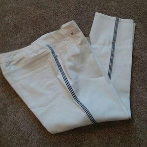 NWT Coldwater Creek white ankle jeans
